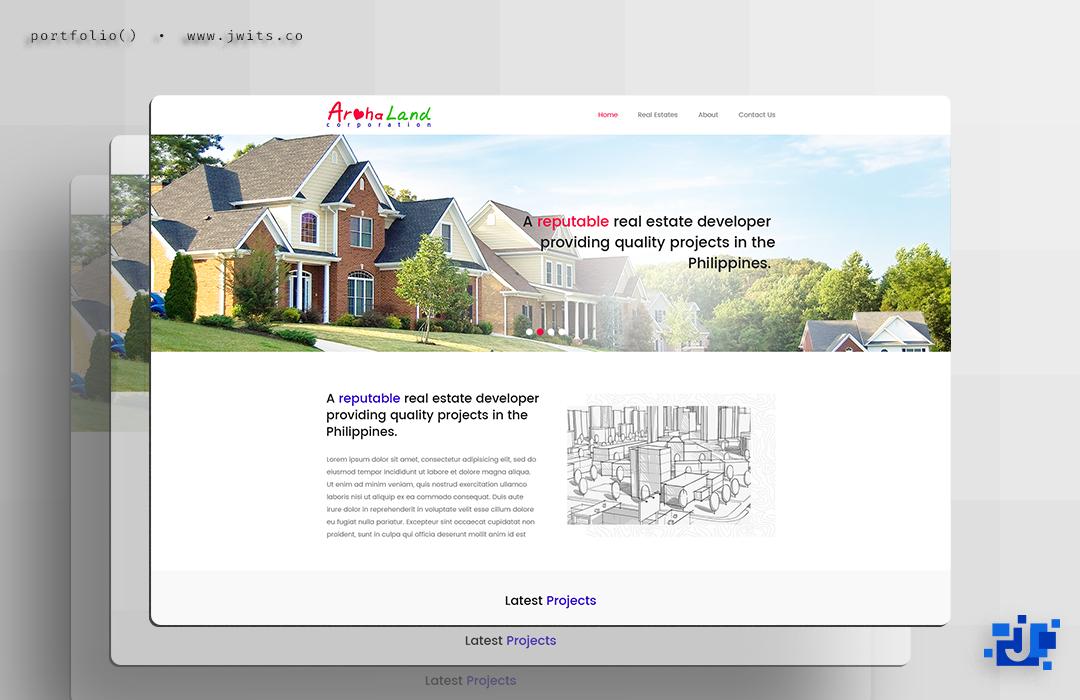 Aroha Land Corporation = Website Design
