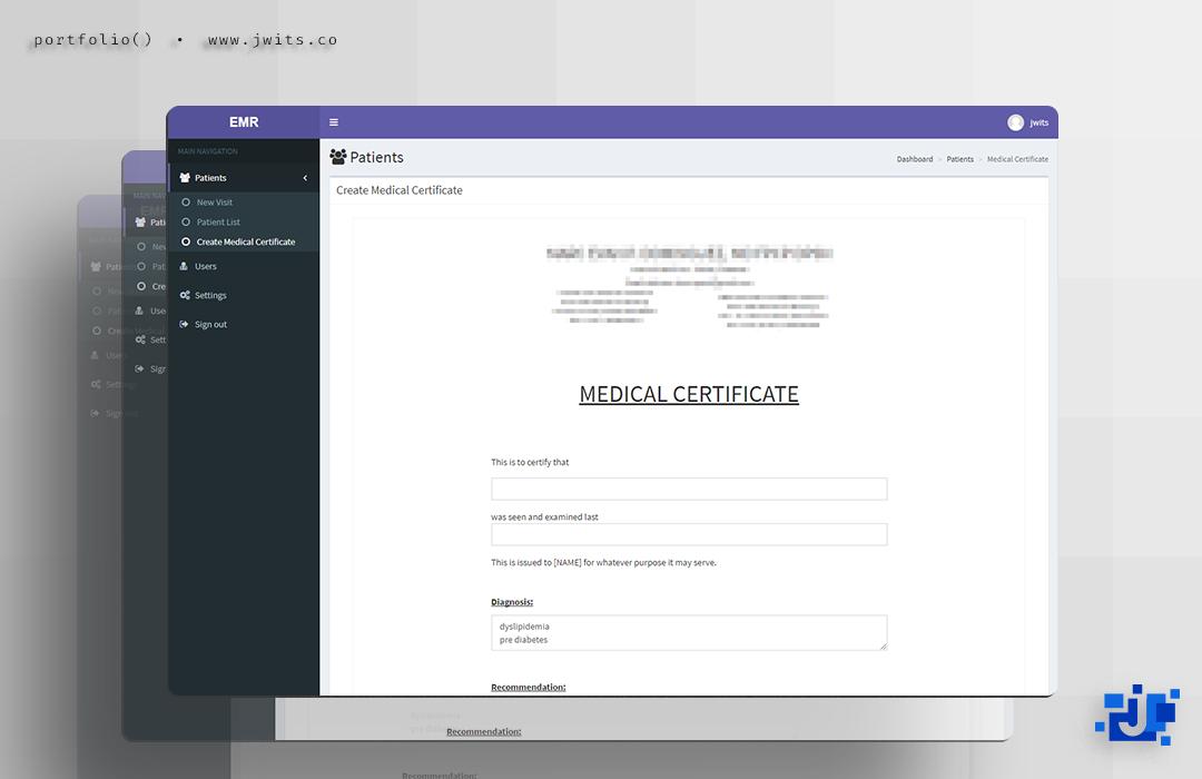Electronic Medical Records = Customized Web-based System