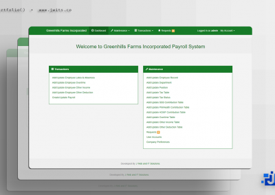 Greenhills Farms = Payroll System