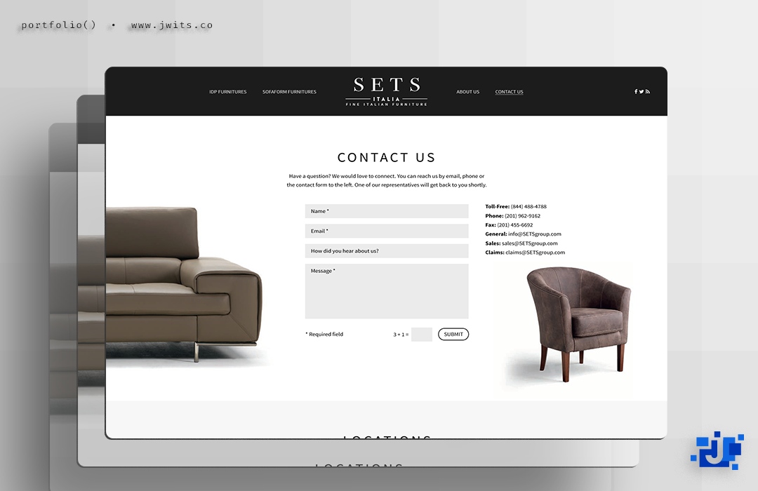 SETS Italia =  Website + Graphic Design
